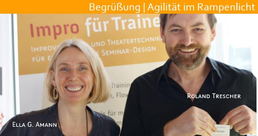 Ella Amann und Roland Trescher, impro live! akademie