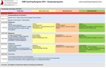 Coaching Kongress 2017 Programm