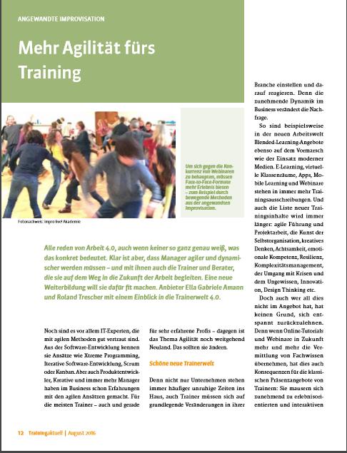 Mehr Agilität fürs Training_TrainingAktuell