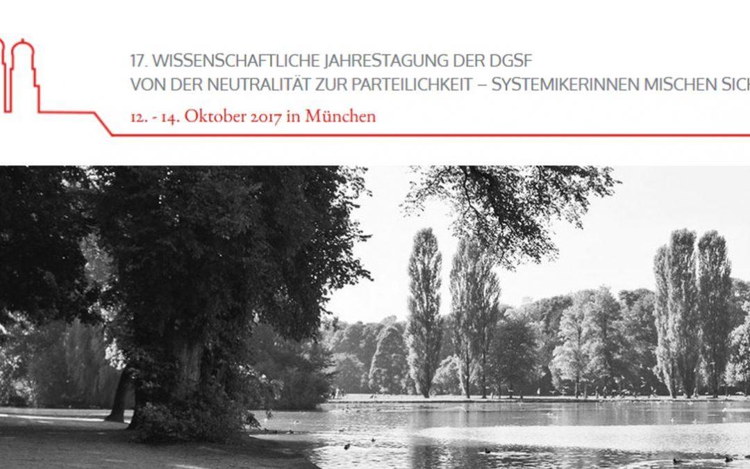 DGSF Jahrestagung, 12. – 14. Oktober 2017 in München
